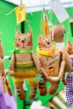 Gatos engraçados da lembrança, brinquedos Fotografia de Stock