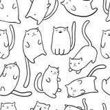 Gatos engraçados da tração da mão fotos de stock royalty free