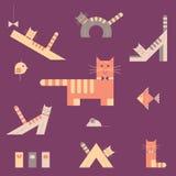 Gatos fijados Foto de archivo libre de regalías