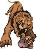 Gatos grandes. ilustração do vetor