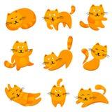 Gatos lindos de la historieta Imagenes de archivo