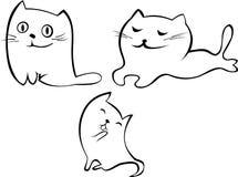 Gatos lindos del vector Foto de archivo