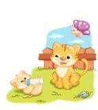Gatos macios ilustração stock