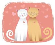 Gatos no amor Fotografia de Stock Royalty Free