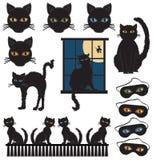 Gatos pretos Imagens de Stock Royalty Free