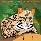 Gatos salvajes jaguar libre illustration
