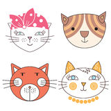 Gatos, sistema de lindo Imagen de archivo libre de regalías