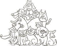 Gatos y perros para el colorante Fotografía de archivo libre de regalías