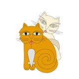 Gatos y ratón Imagen de archivo