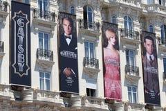 Gatsby海报在戛纳,在戛纳节日20期间 免版税图库摄影