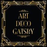 gatsby的艺术装饰 向量例证