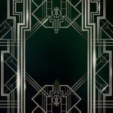 Gatsby艺术装饰背景银 免版税库存照片