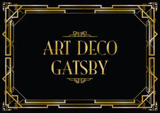 Gatsby art déco stock illustrationer