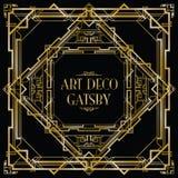 Gatsby art déco Arkivfoton