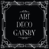 Gatsby art déco royaltyfri illustrationer