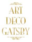 Gatsby art déco Arkivbilder