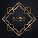 Gatsby art deco background Royalty Free Stock Images