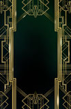 Gatsby Art Deco Background Gold Photo stock