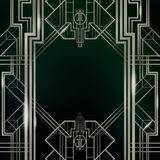 Gatsby  Art Deco Background Silver Royalty Free Stock Photos