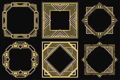 Art Deco Frames royalty free illustration