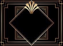 Gatsby geometrico Art Deco Style Frame Design illustrazione di stock