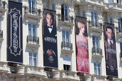 Gatsby poster at Cannes, during Cannes Festival 20 Royalty Free Stock Photography