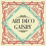 Gatsby stil för art déco royaltyfri illustrationer