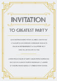 Gatsby Style Invitation Royalty Free Stock Photography