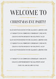 Gatsby Style Invitation Royalty Free Stock Images