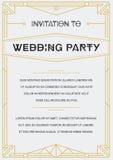 Gatsby Style Invitation Stock Photos