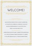 Gatsby Style Invitation Stock Image