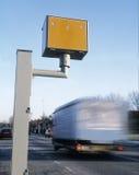 Gatso hastighetskamera med att rusa medlet Royaltyfri Fotografi