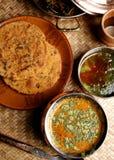 Gatte Ki Sabzi - een populaire Rajasthani-schotel stock fotografie