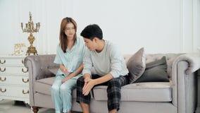 Gatten nicht glücklich, wenn sie das Ergebnis der Schwangerschaft kennen Lizenzfreies Stockfoto