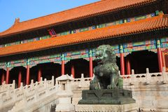 Gatter der Obersten Harmonie. Verbotene Stadt. China. Stockfotos