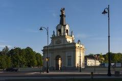 Gatter des Branicki Palastes in Bialystok, Polen stockfoto