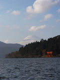 Gatter Japan-Hakone Mt Fuji u. der Torus stockfotos