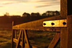 Gatter am Sonnenaufgang Stockbilder