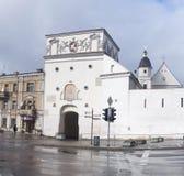 Gatter von Dämmerung, Vilnius Stockbilder