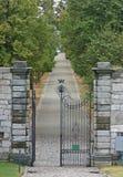 Gatter zum Masino Schlosspark Lizenzfreies Stockbild