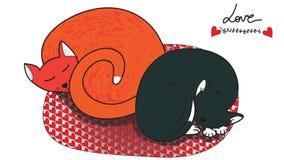 Gatti adorabili di sonno royalty illustrazione gratis
