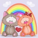 Gatti degli amanti illustrazione di stock