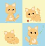 Gatti del fumetto Fotografia Stock