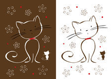 Gatti dell'illustrazione Immagine Stock