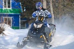 Gatti delle nevi nello sprint 2014 di inverno della concorrenza Immagini Stock Libere da Diritti