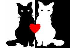 Gatti di amore Illustrazione di Stock