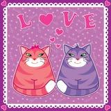 Gatti divertenti illustrazione di stock