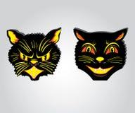 Gatti divertenti diabolici e buoni Immagine Stock