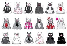 Gatti e vestiti Fotografia Stock Libera da Diritti