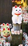 Gatti fortunati al Gotokuji-tempio Fotografia Stock Libera da Diritti